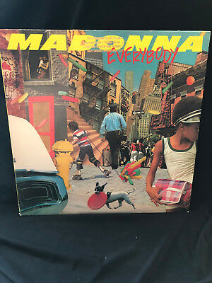 """Madonna: Out Of Print 1St Press Gold Stamp Promo-Everybody 12"""" Vinyl New"""