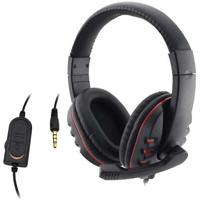 3.5mm Wired Gamer Headset with Mic Stereo Headphone Surround For PC PS4 Computer