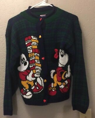 Vintage Disney Mickey Mouse Minnie Sweater 80s  Mikey's Stuff for Kids  L Books