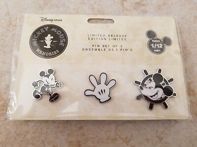 Pin Trading Disney Pins Lot of 3 Disney Store Mickey Mouse Memories Series 1 New