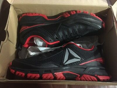 8555ddf7c925e9 New Men s Reebok Ridgerider Trail 2.0 Running Black Red Silver BD2246 Size  10.5