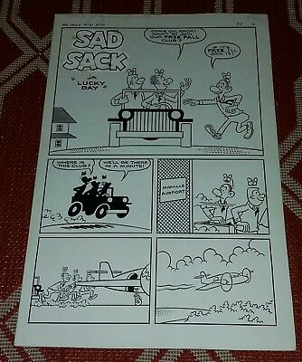 1962 Sad Sack Original Comic Book Art Complete 5 Page Story Army Soldier