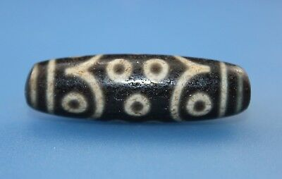 49*15 mm Antique Dzi Agate old 15 eyes Bead from Tibet **Free shipping**