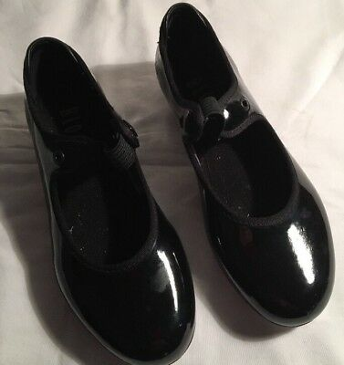 Bloch Techno Black Patent Leather Tap Shoes - Girl's Shoe Size 13M