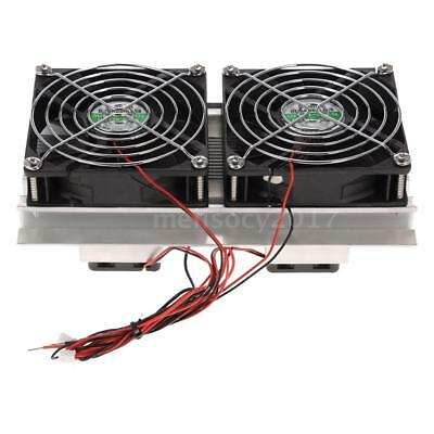 Thermoelectric Peltier Refrigeration Cooling System Kit Double Cooler Fans D6H9