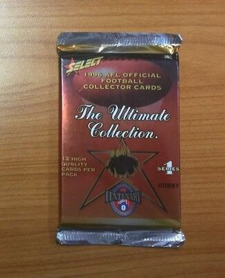 1996 Select AFL The Ultimate Collection S1 Trading Cards - Unopened Booster Pack