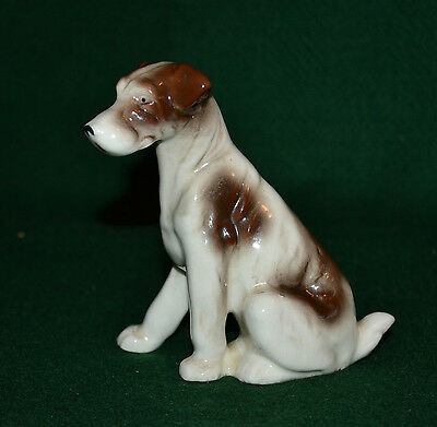 Mid Century Porcelain Dog Figurine/fox Terrier/otagiri/japan