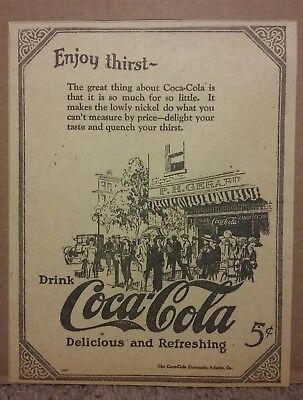 1923 Drink Coca-Cola Ad Enjoy Thirst