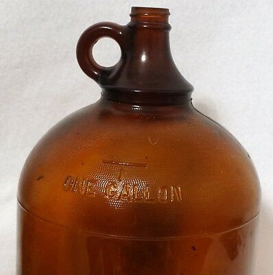 Vintage Amber Brown Duraglas One Gallon Jug