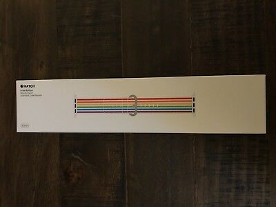 New in box 42mm Apple Watch Band Rainbow PRIDE EDITION Nylon 2018