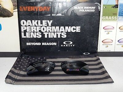 d992cab4713 Oakley Flak Jacket 1.0 Black Iridium Polarized lens set w  USA Bag SKU  13