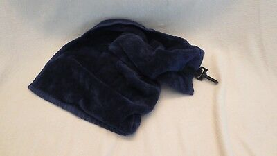 Navy Blue Golf Bag Towel With Clip