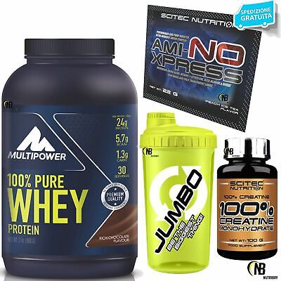 Proteine MULTIPOWER 100% Pure Whey 900 Siero del Latte + 100% Creatina SCITEC