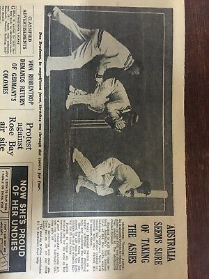 Don Bradman Newspaper Article/ Vintage