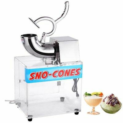 Electric Snow Cone Machine Ice Shaver Maker Crusher Bar Cafes Cool Drink Shaving