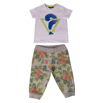 GUESS T-Shirt Top & Trousers Set 6-9M Short Sleeve Crew Neck N62G6590J3Y