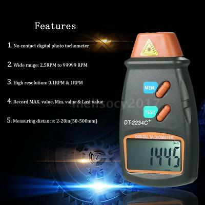 DT-2234C+ LCD Digital Non-Contact Laser Photo Tachometer RPM Tester Meter U3Y1