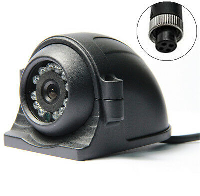 12 IR LED 4 Pin Left Right Side View Camera IP67 Universal For Crane Truck Bus