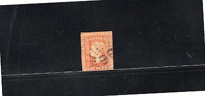 New South Wales 1856 1d orange-red Queen Victoria imperf SG 109 Used