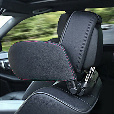 Car Headrest Head Prop Support Pillow Leather Cushion Seat Sleeping Accessories