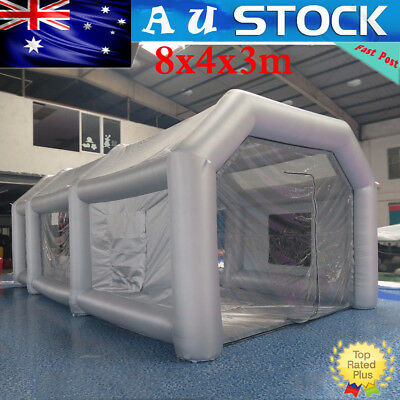 Giant Car Workstation Paint Tent Spray Paint Booth Custom Inflatable 8x4x3m