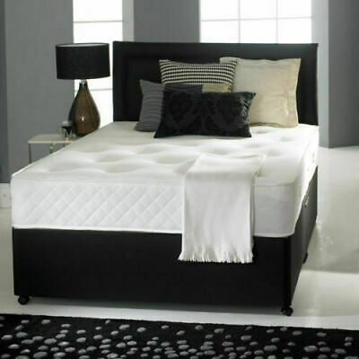Cheap Bed Frame Single Double King Size Leather Beds Memory Foam Mattress Deal