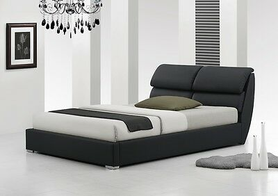 Libretto 4Ft6 Double & 5Ft King Size Modern Leather Bed + Memory Foam Mattress