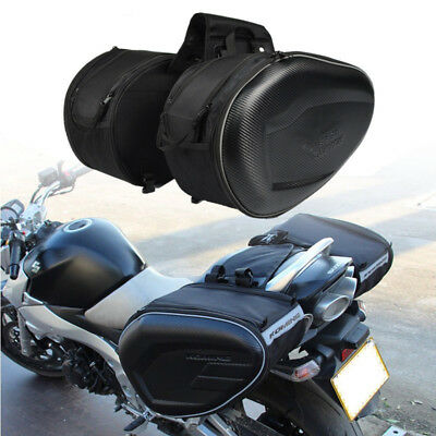 2x Carbon Black Motorcycle Saddle Bags Luggage Helmet Tank Box Rain Dust Covers Motorcycle Accessories