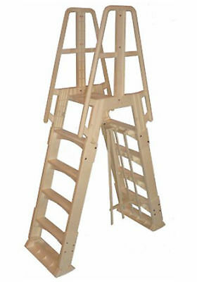 New VinylWorks Slide Lock SLA001 A-Frame Above Ground Pool Ladder (Taupe)