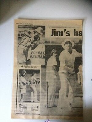 Newspaper Clipping - Cricket 1979, Australia & West Indies
