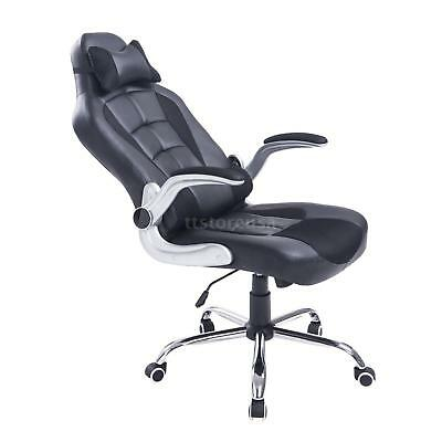 Adjustable Racing Office Chair PU Leather Recliner Gaming Computer E0F0