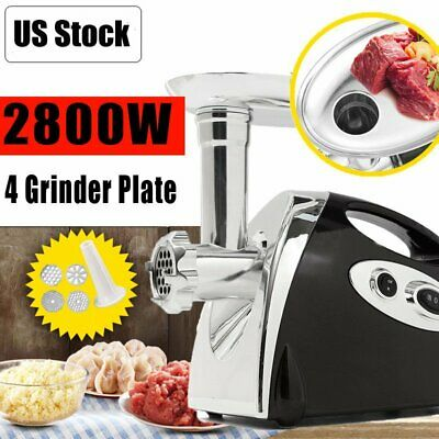 2800W Electric Meat Grinder Sausage Stuffer Maker Stainless Cutter Home Black BT