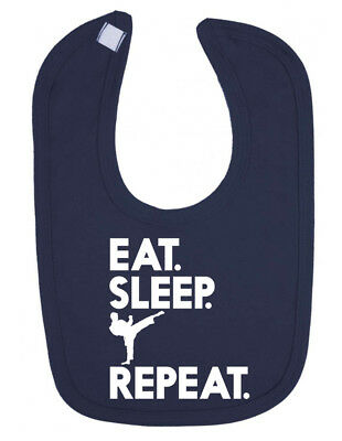 Eat Sleep Karate Repeat Newborn Toddler Baby Bib