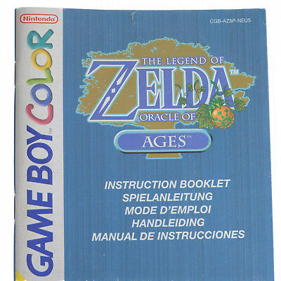 Game Boy Color Anleitung The Legend Of Zelda Oracle of Ages Sehr Guter Zustand!