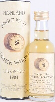 Linkwood 1984 11 Years Sherry Butt 5453 Signatory Scotch Whisky 43,0% Miniatur