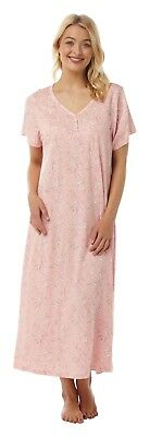 cace19a2c7 Ladies Plus Size Short Sleeve Long Soft Jersey Nightie Nightdress UK size 14 -32