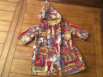Vintage Mid century retro Circus carnival Fair jacket dress coat GIRL BOY 2 3/4T