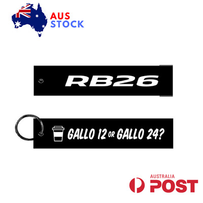 Rb26 Gallo 12 Or Gallo 24 Jet Tag Keychain Key Ring Red Aus Stock Embroidered