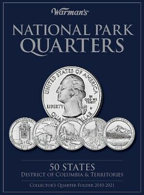 Coin Collection Folder For US National Parks Quarters 2010-2021 By Warman's Gift
