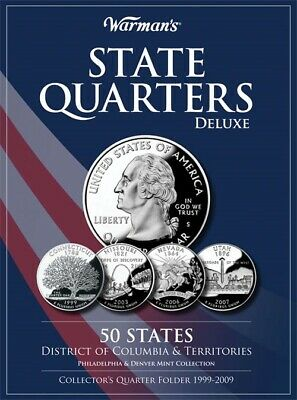Deluxe Folder For Collecting US State Quarters 1999-2009 Great Gift By Warman's