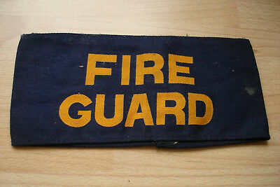 Ww2 British Home Front Fire Guards Armband Armlet Badge Of Office Insignia