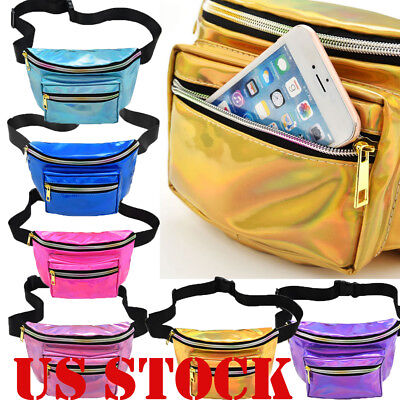 US Fashion Mermaid Sequin Glitter Waist Fanny Pack Belt Bum Bag Pouch Hip  Purse b5af77268d23