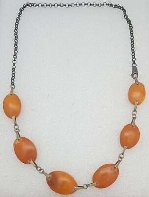 Anique Natural Baltic Butterscotch Egg Yolk Amber Beads Necklace 13.3 Grams