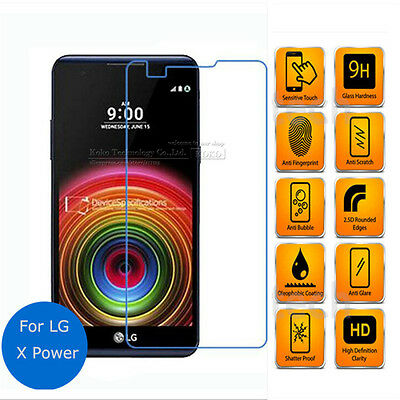 """Tempered Glass for LG X Power Screen Protector 5.3""""inch Protective Film Guard"""