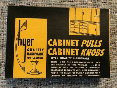 12 NOS Vintage Cabinet Pulls HYER 912 Polished Chrome drawer Mid Century 1949