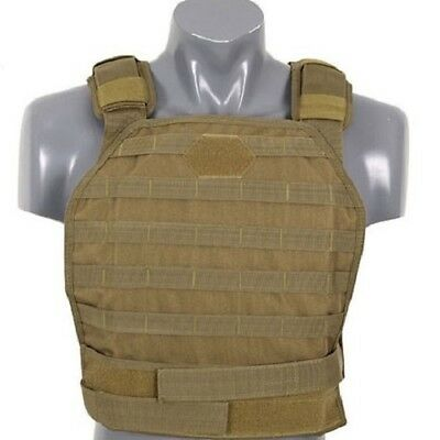 Plate Carrier Vest HARD, tan - Airsoft Softair Weste Plattenträger