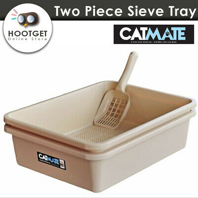 CATMATE Sieve Cat Litter Tray Pan Scoop Set Pet Cat Kitten Toilet Box  Cat Mate