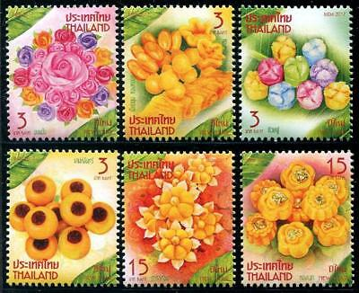 New Year's Desserts mnh 6 stamps 2017 Thailand cookies