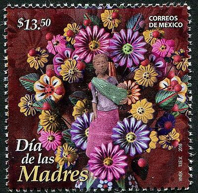 Mothers Day mnh stamp 2016 Mexico Flowers