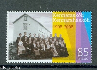Teachers' College of Iceland centenary mnh stamp 2008 iceland #1127